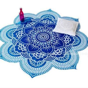 Cover ups Bikini Lotus Flower Indian Mandala Tapestry Wall Hanging Bedspread Blanket Scarves Wraps Yoga Mat Beach  KO_13_1