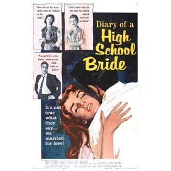 Diary Of A High School Bride Movie poster Metal Sign Wall Art 8in x 12in