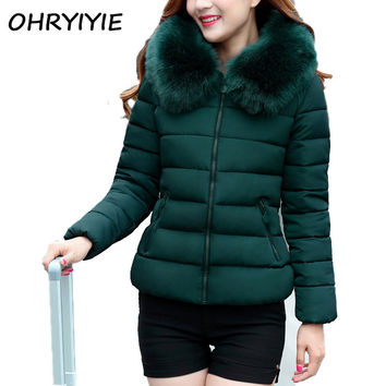OHRYIYIE Hooded Winter Jackets And Coats Women's Thick Warm Parkas Mujer Invierno 2017 Female Anorak Ladies Coat Manteau Femme