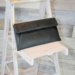 Long Fold-Over Clutch in Black