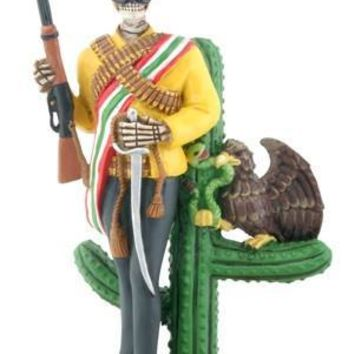 Zapata Mexican Revolutionary Day of the Dead Statue - T81500