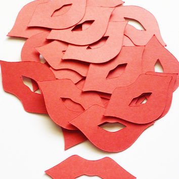 Free Shipping 50 pieces Lips Red Die Cuts by itrhymeswithorange