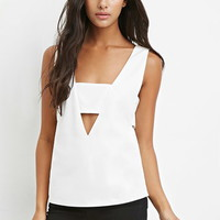 V-Neck Cutout Top