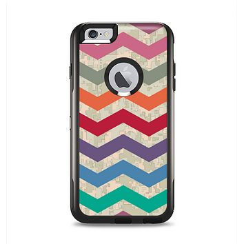 The Retro Chevron Pattern with Digital Camo Apple iPhone 6 Plus Otterbox Commuter Case Skin Set