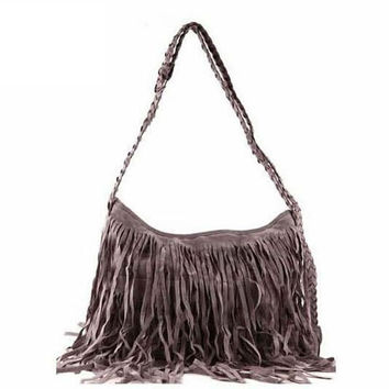 2016 New Hotsale Cheaper price promotion Tassel lady bucket bags,Faux Suede Leather shoulder bags woman,bags Hot Products XP027