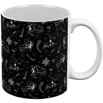Dinosaur Dino Bones Fossil Pattern All Over Coffee Mug