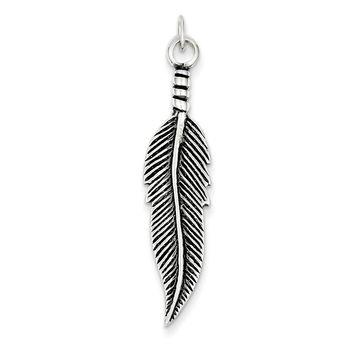 Shop sterling silver feather pendant on wanelo sterling silver antiqued feather pendant aloadofball Images