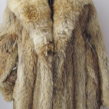 50% Off Was 4,675. Classy Full Length Red Fox Long Coat Luxurious Vintage Genuine Fox Fur Jacket COUTURE DESIGN Hollywood Glam