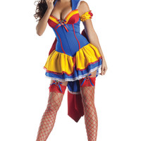 Sweetheart Ruched-hem Halter Halloween Party Costume