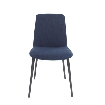 Kito Dining Chair Navy Blue Fabric (Set Of 2)