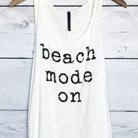 Beach Mode On Tank Top