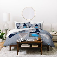 Viviana Gonzalez Geometric Abstract 5 Duvet Cover