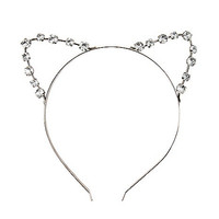 Rhinestone Cat Ear Headband - Spirithalloween.com