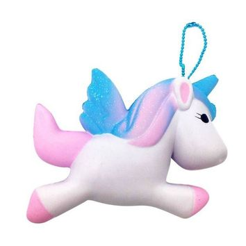 ONETOW Exquisite Cute Squishy Unicorn Toy Slow Rising for Children Adults Relieves Stress Anxiety Cabinet Decoration Sample Model