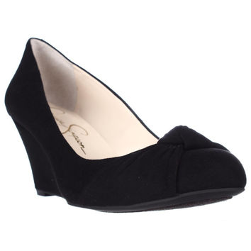 Jessica Simpson Siennah Wrap Toe Wedge Pumps - Black