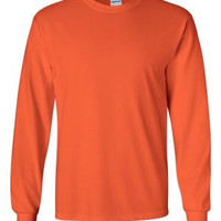 Gildan 2400 Ultra Cotton™ Long Sleeve T-Shirt (Orange / 3XL)