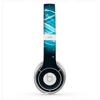 The Abstract Glowing Blue Swirls Skin for the Beats by Dre Solo 2 Headphones