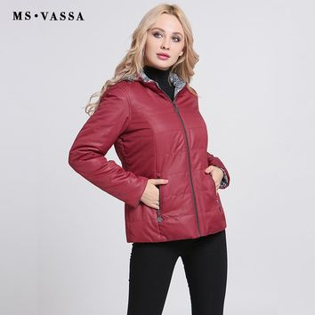 Women Jacket Autumn New Ladies Coats With Hood Reversible Print Jackets Outerwear