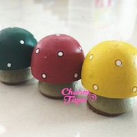 Mushroom Stamp - Rubber wood mounted Stamps - 3 styles can choose RS24