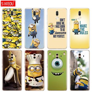 Silicone Cover phone Case for Huawei mate 7 8 9 10 pro LITE Mike Wazowski minions banana