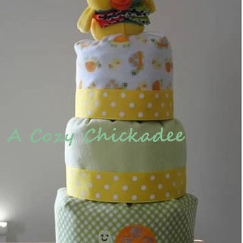 Diaper Cake for BabyDucks and TurtlesGender by ACozyChickadee