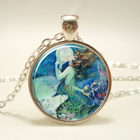 Mermaid Necklace, Fantasy Pendant, Henry O'Hara Clive (1036S1IN)