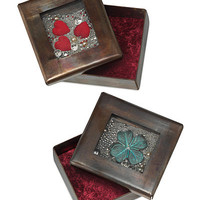 LOVE AND LUCK COPPER RELIQUARY BOXES