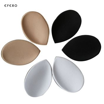 1Pair=2Pcs Women's Invisible Push Up Foam Sponge Inserts Bra Pads Invisible Bra Support Bra Mat For Swimsuit Underwear Bikini