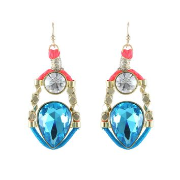 Call of the Crown Earrings in Ocean