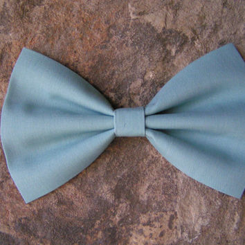 Seafoam blue bow, bows, girls hair bows, hair bow for women, hair bows for teens, bow for hair, fabric bow, cotton fabric bow