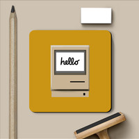Retro iMac Hello Coaster