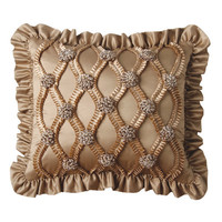 Jennifer Taylor Legacy Pillow with Braid and Rose