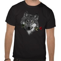 Wolf Rose Shirts from Zazzle.com