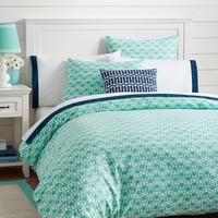 Cape Cod Duvet Cover + Sham, Turtles