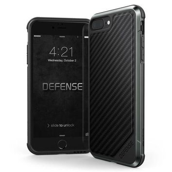 Iphone 8 Plus & Iphone 7 Plus Case X Doria Defense Lux Series   Military Grade Drop Tested Anodized Aluminum Tpu And Polycarbonate Case For Apple Iphone 8 Plus & 7 Plus [black Carbon Fiber]