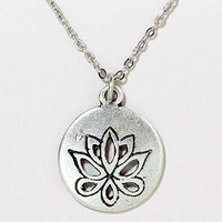 Lotus Flower Pendant Necklace | Jewelry and Accessories  | World Market