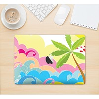 "The Cartoon Bright Palm Tree Beach Skin Kit for the 12"" Apple MacBook"