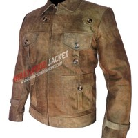 The Expendables 2 Jason Statham (Lee) Distressed Leather Jacket