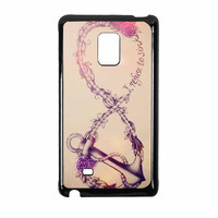 Infinity Flower Anchor Refuse To Sink Design Samsung Galaxy Note Edge Case
