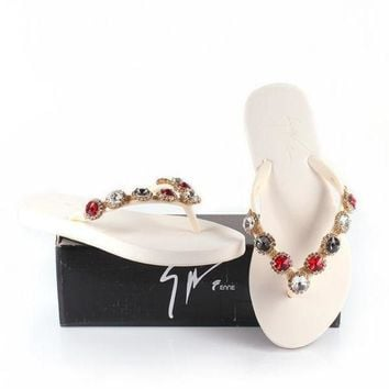 shosouvenir £º Giuseppe Zanotti Women Rhinestone Slippers Sandals Shoes