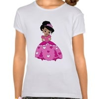 Black princess with black natural hair t-shirts