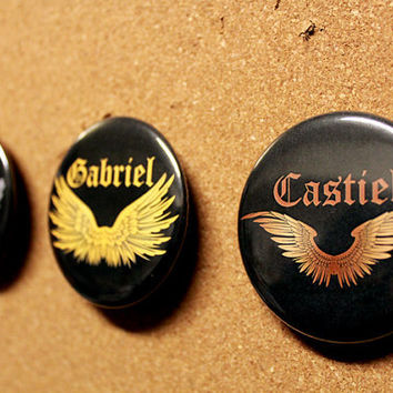 Balthazar - Gabriel - Castiel - Wings Badge