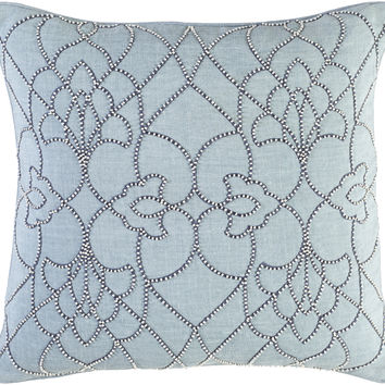 Surya Dotted Pirouette Throw Pillow Blue, Blue