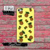 Pineapple Tropical Pattern Hipster Fruit Hawaiian Cute Case iPod Touch 4th Generation or iPod Touch 5th Generation Rubber or Plastic Case