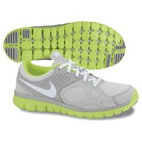 Nike Women's Flex Trainer 2012 Running Shoe Gray/White/Neon (9)