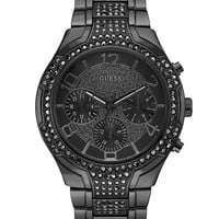 Gunmetal-Tone Glitzy Sport Dress Watch | GUESS.com
