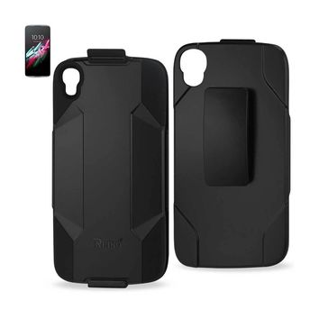 New Hybrid Holster Combo Case In Black For Alcatel One Touch Idol 3 By Reiko