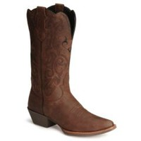 Sheplers: Justin Stampede Western Cowgirl Boots with Rubber Sole - Snip Toe