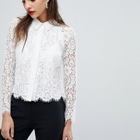 Whistles Suzie Lace Shirt at asos.com