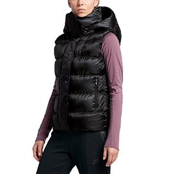 Nike Women's 550 Fill Down Hooded Vest-Black
